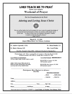 Weekend of Prayer 2016 Flyer